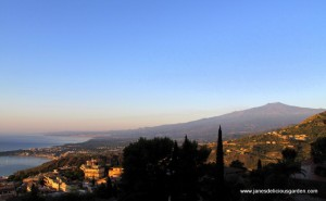 Mt Etna from Taormina (2)