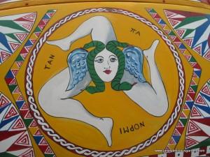 Sicily's symbol Trinacria (meaning triangle)